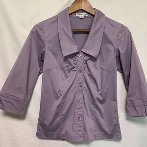 Pendleton button down rushed front v-neck shirt